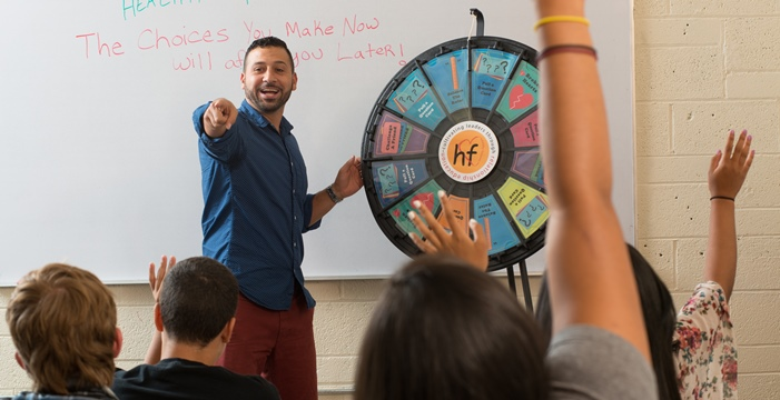 Health Educator with Wheel